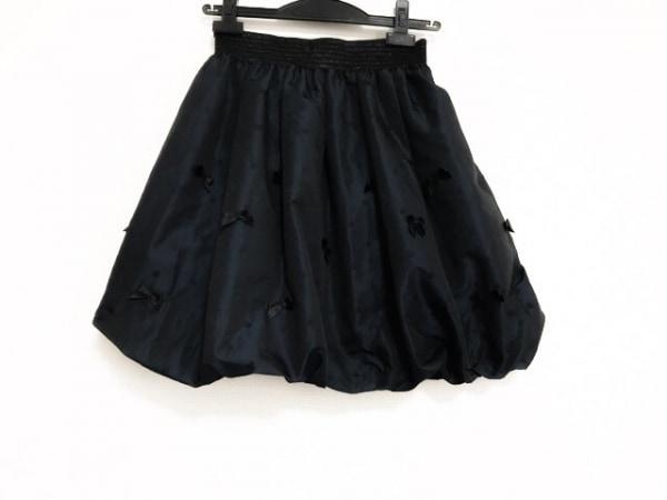 ロイスクレヨン バルーンスカート サイズF レディース美品  ダークネイビー×黒