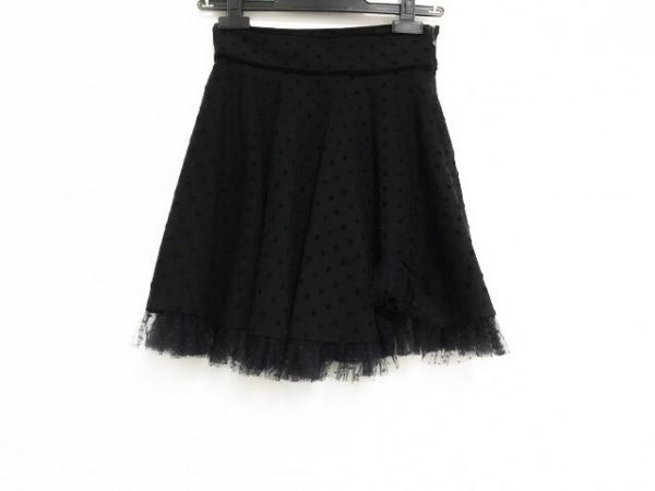 バレンチノ ミニスカート サイズXS レディース美品  ダークグレー×黒