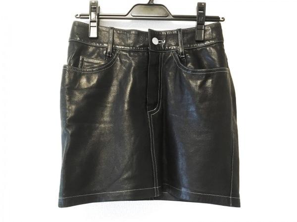 agnes b(アニエスベー) ミニスカート サイズ36 S レディース美品  黒 レザー