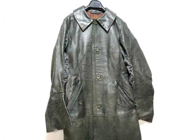 yohjiyamamoto(ヨウジヤマモト) コート レディース 黒 レザー/冬物