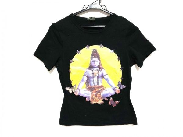 ゴルチエ 半袖Tシャツ サイズ40 M レディース美品  黒×イエロー×マルチ