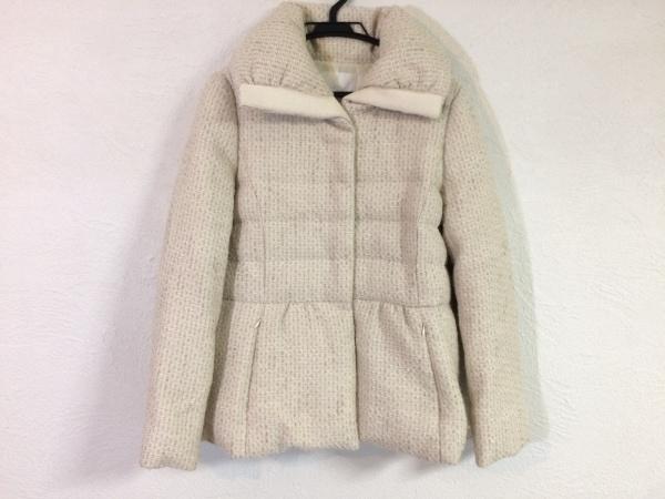 レステラ ダウンジャケット サイズ40 M レディース アイボリー 冬物/ツイード