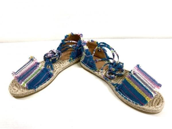 UNGRID(アングリッド) 靴 M レディース ブルー×パープル×マルチ オープントゥ
