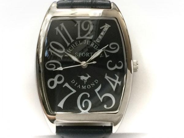 michel Jurdain(ミッシェルジョルダン) 腕時計 SG-1000A メンズ SPORT/5Pダイヤ 黒