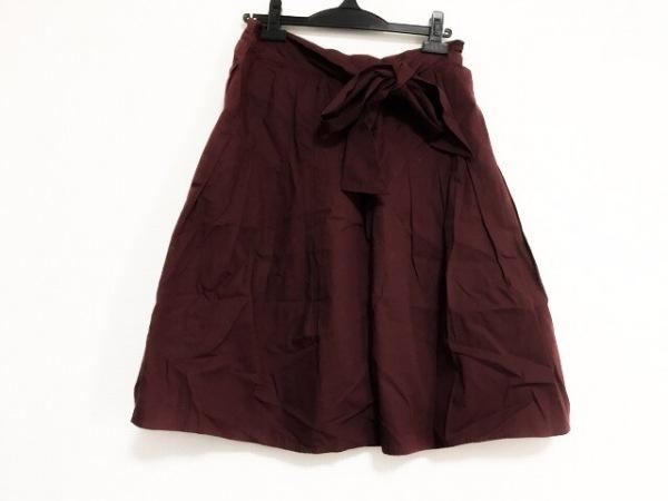 マーガレットハウエル スカート サイズ2 M レディース美品  ボルドー リボン