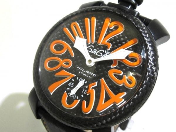 best website 4e8b2 120d4 GAGA MILANO(ガガミラノ) 腕時計 - - メンズ 黒×オレンジ