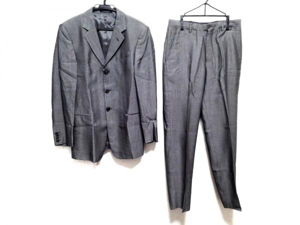 EMPORIOARMANI(エンポリオアルマーニ) シングルスーツ サイズ46 S メンズ 黒×グレー