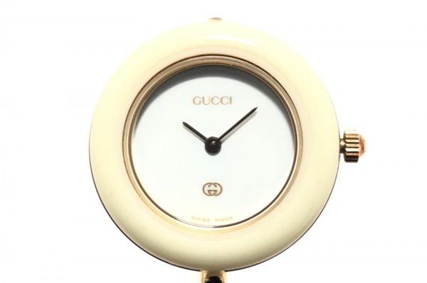 GUCCI(グッチ) 腕時計 11/12 レディース 白