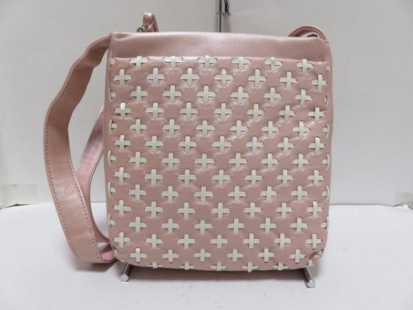 SANPO(サンポー) ショルダーバッグ ピンク×白 合皮