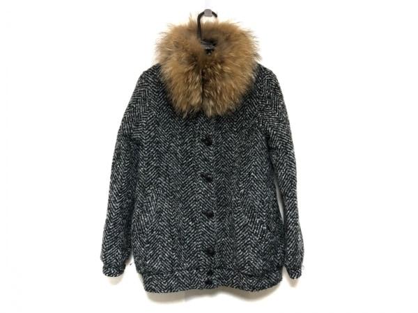moussy(マウジー) コート サイズ1 S レディース美品  黒×白 冬物