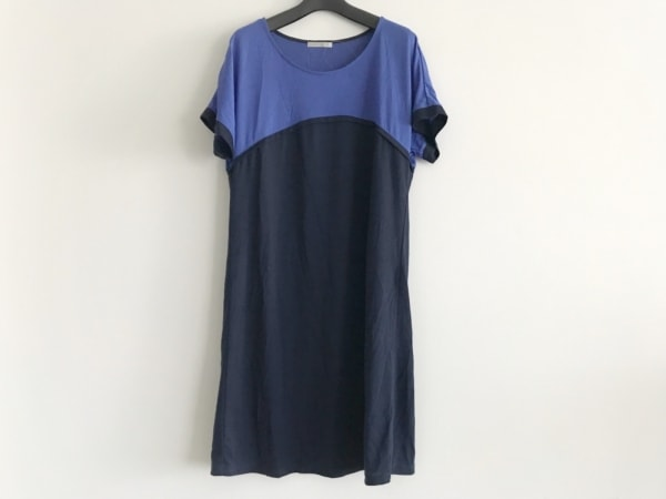 スポーティフ ワンピース サイズ4 XL レディース美品  ブルー×ダークネイビー
