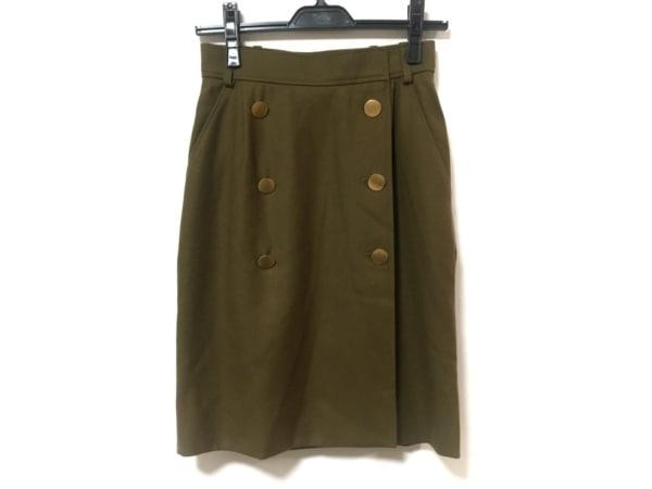 イヴサンローランリヴゴーシュ 巻きスカート サイズ38 M レディース ブラウン