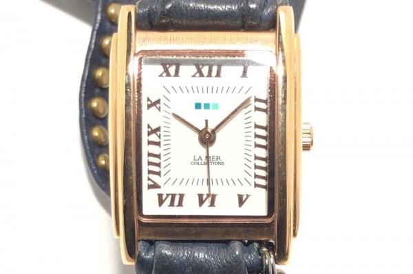 LA MER COLLECTIONS(ラメール) 腕時計 - - レディース ラップウォッチ/3重巻き 白