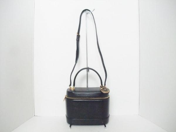 VALENTINOGARAVANI(バレンチノガラバーニ) バニティバッグ 黒 レザー