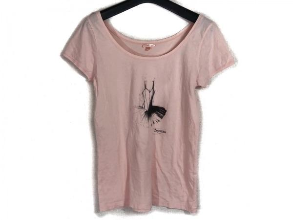 repetto(レペット) 半袖Tシャツ サイズL レディース ピンク×黒