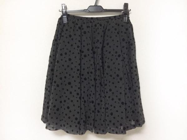 Lois CRAYON(ロイスクレヨン) スカート レディース美品  黒×白 ドット柄