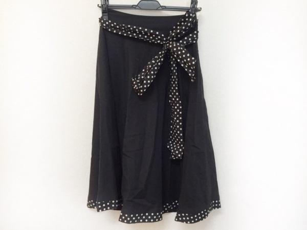 Lois CRAYON(ロイスクレヨン) スカート サイズM レディース美品  黒×白 ドット柄