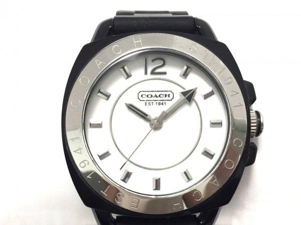 COACH(コーチ) 腕時計美品  ボーイフレンド CA.43.7.29.0502 レディース ラバーベルト