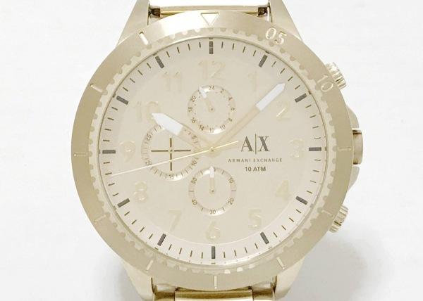 ARMANIEX(アルマーニEX) 腕時計新品同様  AX1752 メンズ クロノグラフ ゴールド