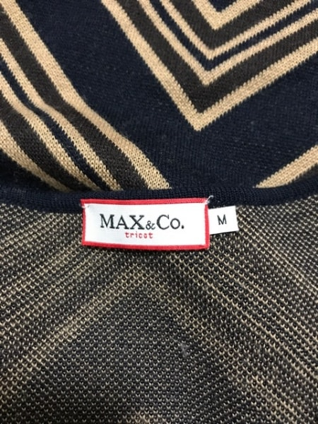 マックス&コー ワンピース サイズM レディース ネイビー×ベージュ×ダークブラウン