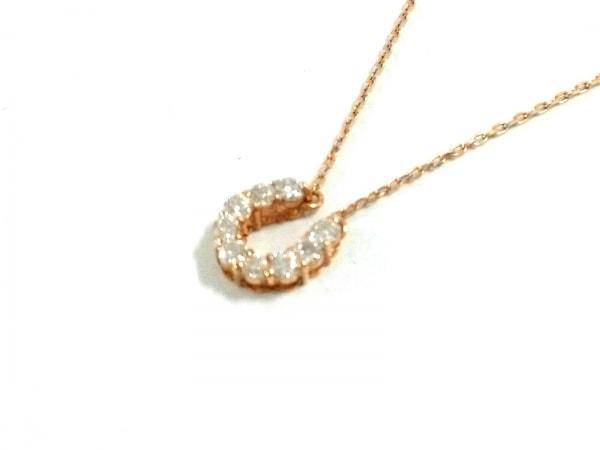 ノーブランド ネックレス美品  2928 1.0 K18×ダイヤモンド クリア