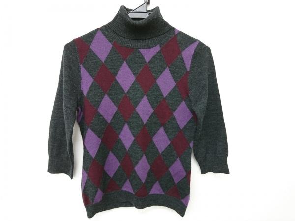 ニジュウサンク 七分袖セーター サイズ38 M レディース新品同様  タートルネック