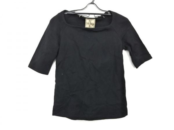 JOCOMOMOLA(ホコモモラ) カットソー サイズ40 XL レディース 黒 五分袖