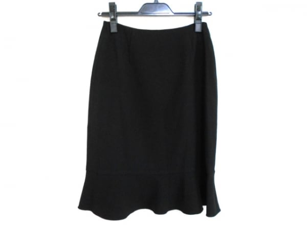 VALENTINO(バレンチノ) スカート サイズ9 M レディース美品  黒 VAL by VALENTINO