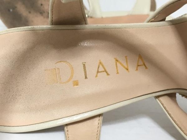 DIANA(ダイアナ) サンダル 23 レディース アイボリー ラメ レザー