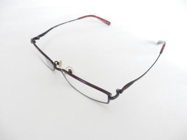 キースバリー メガネ美品  クリア×黒×ボルドー 度入り ガラス×金属素材
