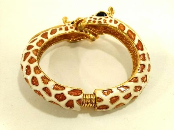 KENNETH JAY LANE(ケネスジェイレーン) バングル美品  金属素材 白×ゴールド キリン
