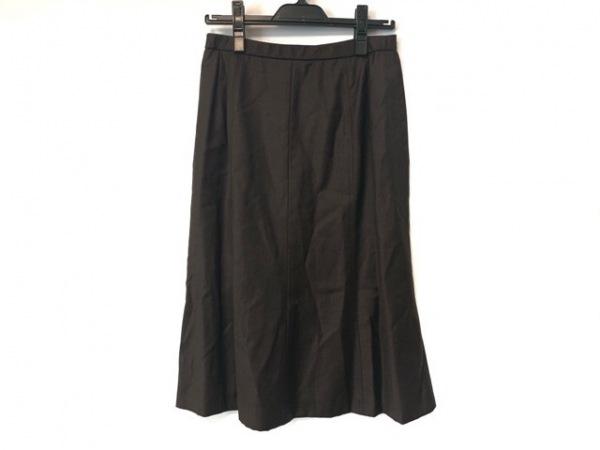 Leilian(レリアン) スカート サイズ13 L レディース ダークブラウン