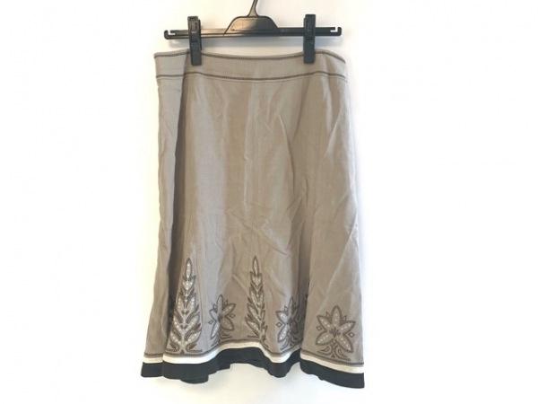 Leilian(レリアン) スカート サイズ13 L レディース ベージュ 刺繍