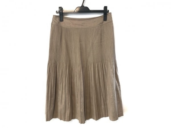 23区(ニジュウサンク) スカート サイズ44 L レディース ベージュ プリーツ
