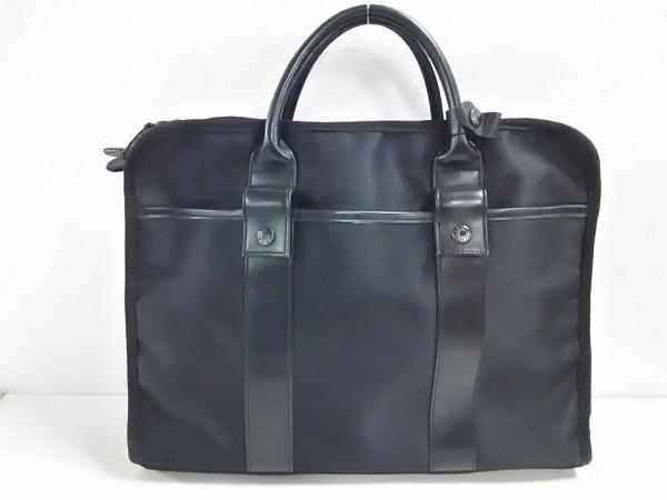 TAKEOKIKUCHI(タケオキクチ) ビジネスバッグ美品  黒 ナイロン×レザー