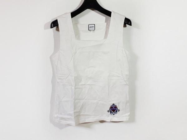 JeanPaulGAULTIER(ゴルチエ) ノースリーブカットソー サイズ40 M レディース美品  白