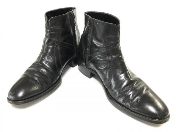 FLORSHEIM(フローシャイム) ショートブーツ 3 メンズ 黒 レザー