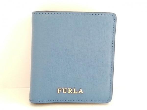 FURLA(フルラ) 2つ折り財布美品  ネイビー レザー