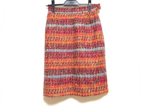 クリスチャンラクロワ スカート サイズ36 S レディース ボルドー×オレンジ×マルチ