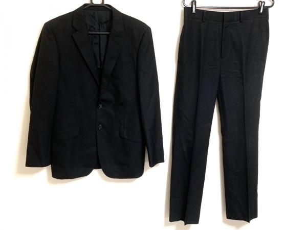 MEN'SBIGI(メンズビギ) シングルスーツ サイズ2 M メンズ 黒 ストライプ