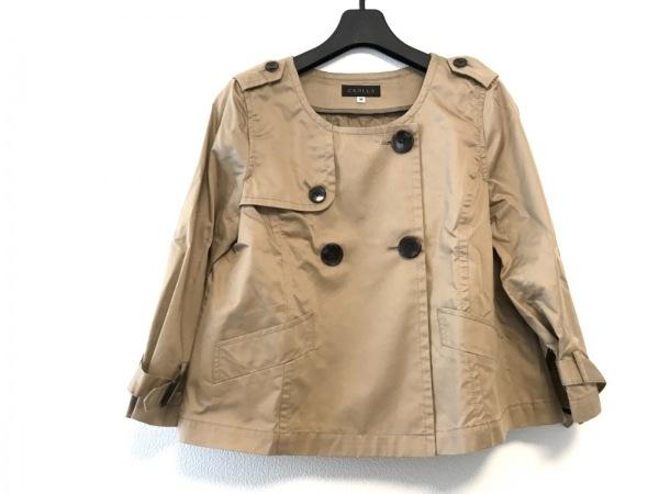クローラ コート サイズ36 S レディース美品  ライトブラウン ショート丈/春・秋物