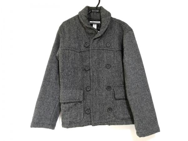 コムデギャルソンシャツ コート サイズS メンズ美品  グレー×黒 冬物