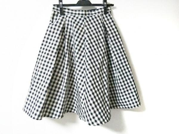 Mystrada(マイストラーダ) スカート サイズ38 M レディース美品  白×黒 チェック柄