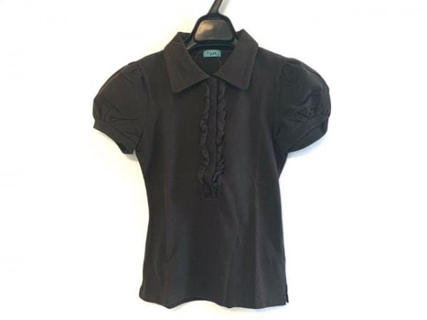 フォクシーエフガール 半袖ポロシャツ サイズXS レディース ダークブラウン フリル