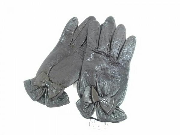 AGNELLE(アニエル) 手袋 7 レディース美品  ダークグレー レザー