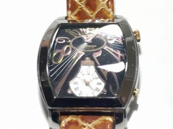 NEWMAN(ニューマン) 腕時計 - メンズ 革ベルト 黒