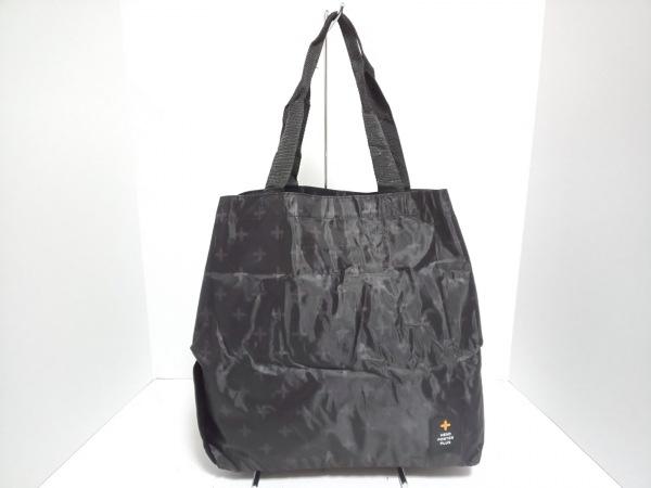 ヘッドポータープラス トートバッグ美品  黒×ダークブラウン 折りたたみ ナイロン