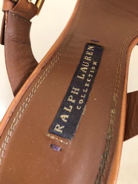 ラルフローレンコレクション パープルレーベル サンダル 6B レディース ブラウン