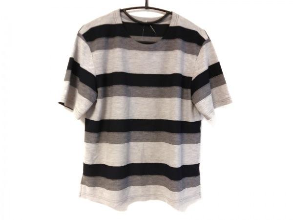 レリアン 半袖Tシャツ サイズ9 M レディース グレー×ダークグレー×黒 ボーダー