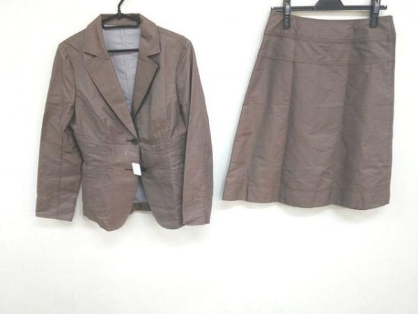 ハナエモリ スカートスーツ サイズ40 M レディース美品  ブラウン×ダークブラウン